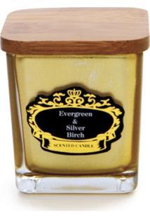 Vela Cachepot Vidro Ouro 7 X 6,5 Cm Dourado