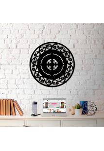Escultura De Parede Wevans Mandala Abstrat Flower + Espelho Decorativo