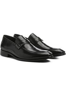 Sapato Social Shoestock Fivela Solado Couro