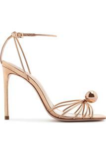 Sandália Salto Pearl Dourada | Schutz