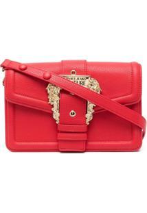 Versace Jeans Couture Bolsa Tiracolo Com Detalhe De Fivela - Vermelho