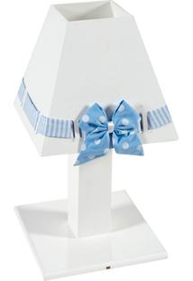 Abajur Enfeitado De Madeira Coleção Princesa Gelo - Azul