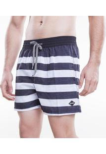 Bermuda Voley Mormaii Sublimado Black And White Lines Masculino - Masculino