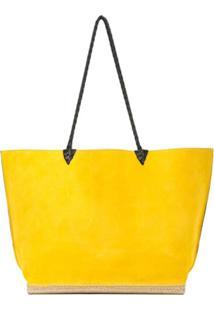 Altuzarra Bolsa Tote 'Espadrille' Grande De Camurça - Amarelo