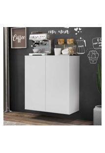 Aparador Cantinho Do Café Suspenso 2 Portas Multimóveis Branco