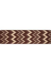 Tapete Sisllê Geométrico Zigzag Retangular Polipropileno (66X180) Tabaco