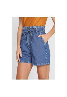 Bermuda Jeans Colcci Reta Edite Azul