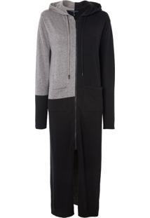 Blusa Rosa Chá Corfu Tricot Preto Feminina (Black And Grey, G)