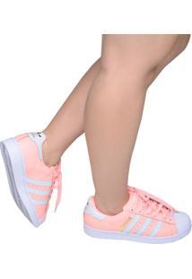 f6300a30420 ... Tênis Feminino Casual Superstar Adidas Rosa E Branco