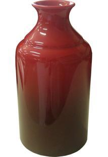 Garrafa Decorativa Gargalo 8 Vermelha Ref: 114636