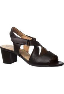 Sandália Couro 284 Doctor Shoes Feminina - Feminino-Marrom