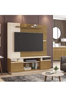 Estante Home Para Tv De 60 Polegadas Com Espelhos Aruba Móveis Bechara Cinamomo/Off-White