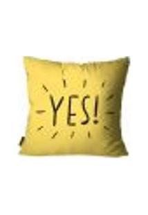 Capa Para Almofada Premium Cetim Mdecore Yes! Amarela 45X45Cm