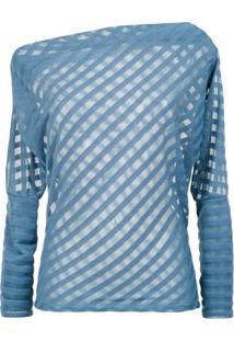 Corporeum Blusa Assimétrica Listrada - Azul