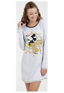 Camisola Feminina Estampa Mickey Manga Longa Disney