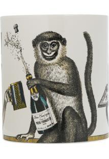Fornasetti Monkey Print Candle - Branco