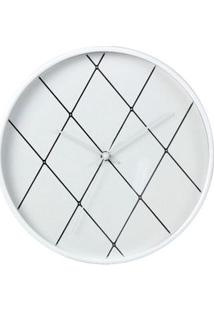 Relógio De Parede Em Losango Branco Coisas E Coisinhas
