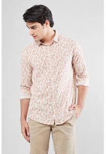 Camisa Pf Liberty Reserva Folhas Pinceladas Masculina - Masculino-Off White