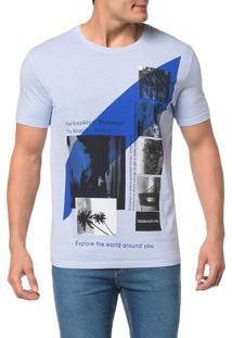 Camiseta Ckj Mc Est. Imagens Faixa Centro - P