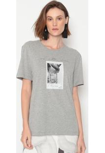 """Camiseta """"No Matter Where"""" - Cinza & Preta - Forumforum"""