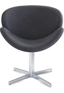 Poltrona Lab Assento Estofado Rustico Preto Base Fixa Em Aluminio - 55850 - Sun House
