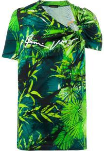 Versace Blusa Com Estampa Botânica - Verde