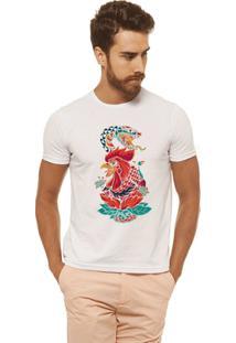 Camiseta Joss - Galo E Cobra - Masculina - Masculino-Branco