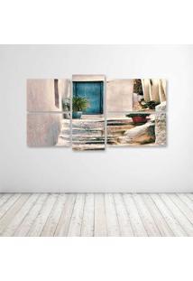 Quadro Decorativo - Door - Composto De 5 Quadros - Multicolorido - Dafiti