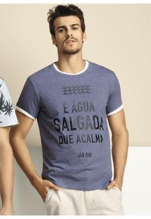 Camiseta Masculina Slim Com Estampa