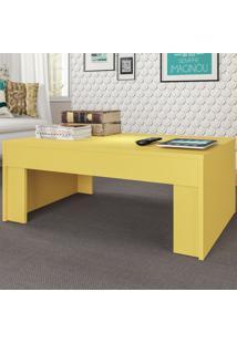 Mesa De Centro Prada Amarelo Acetinado - Atualle Móveis