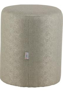 Puff Round Tecido Jacquard Assis 8149 Cinza Stay Puff