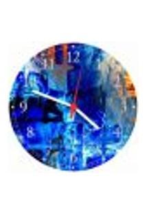 Relógio De Parede Abstrato Arte Moderna Colorido Salas