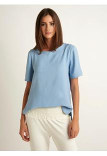 Blusa Le Lis Blanc Camila 2 Azul Feminina (Hortência, 34)