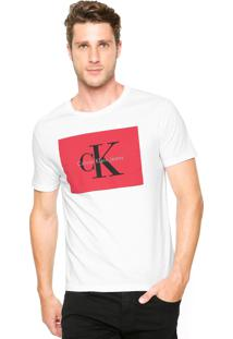 Camiseta Calvin Klein Jeans Reta Branca