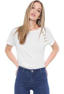 Camiseta Carmim Troia Branca