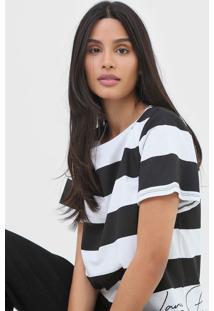 Camiseta Lança Perfume Listrada Preta - Kanui