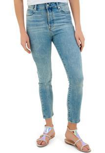 Calça Rosa Chá Arlene Jeans Azul Feminina (Jeans Claro, 34)