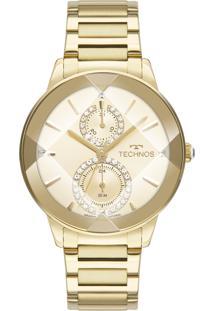 Relógio Technos Feminino Crystal Analógico Dourado 6P73Af1X - Kanui