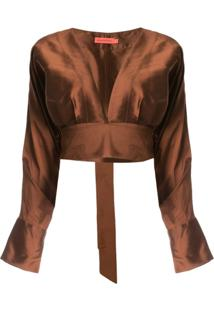 Manning Cartell Blusa Cropped - Marrom