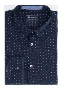 Camisa Social Classic Fit Estampada