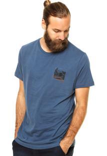 Camiseta Richards Estampa Azul