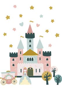 Adesivo De Parede Princesa Castelo E Carruagem 21Un