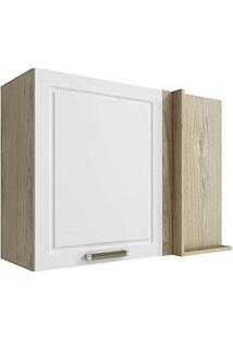 Armário De Cozinha Canto Reto 1 Porta Cook Completa Móveis Montreal/Branco