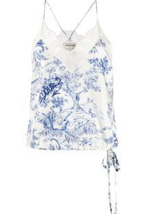 Zadig&Voltaire Blusa Alças Finas Fashion Show Chris - Branco