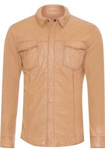 Camisa Masculina Leather - Marrom