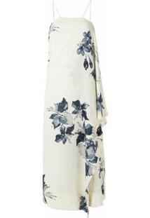 Osklen Vestido Lenço Water Flower - Branco