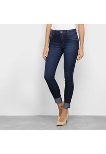 Calça Jeans Biotipo Soft Skinny Bigode Cintura Média Feminina - Feminino