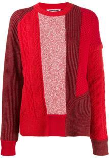 Mcq Alexander Mcqueen Panelled Knit Jumper - Vermelho