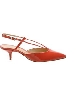 Scarpin Kitten Heel Strings Verniz Red | Schutz