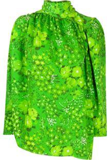 Balenciaga Blusa Twisted - Verde